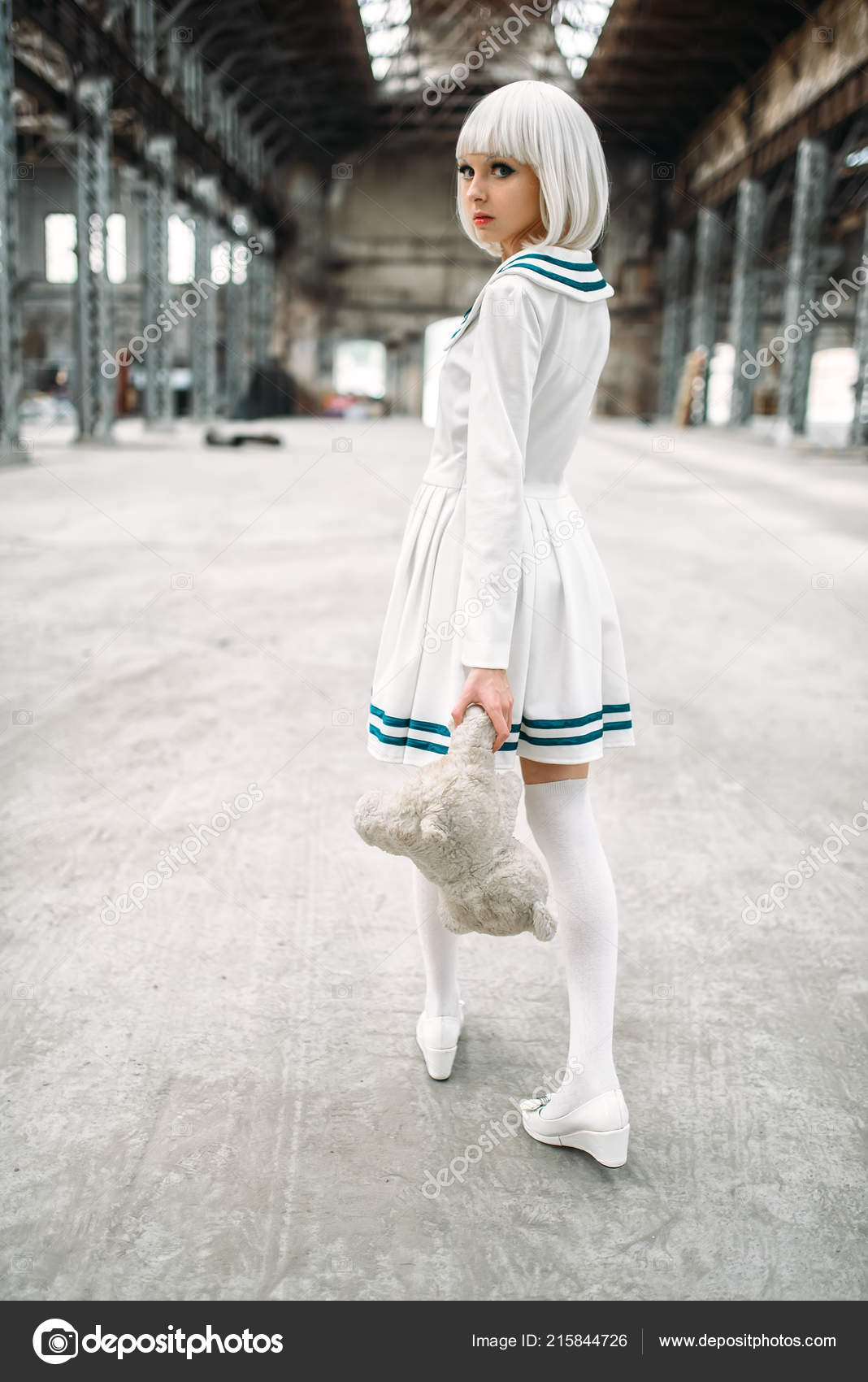 6aa33999e302 Roztomilé Anime Stylu Blond Žena Teddy Bear Ruce Cosplay Japonská ...