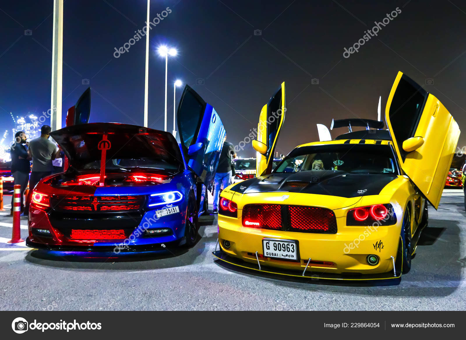 Dubai Uae November 2018 Customized Motor Cars Dodge Charger Takes Stock Editorial Photo C Artzzz 229864054