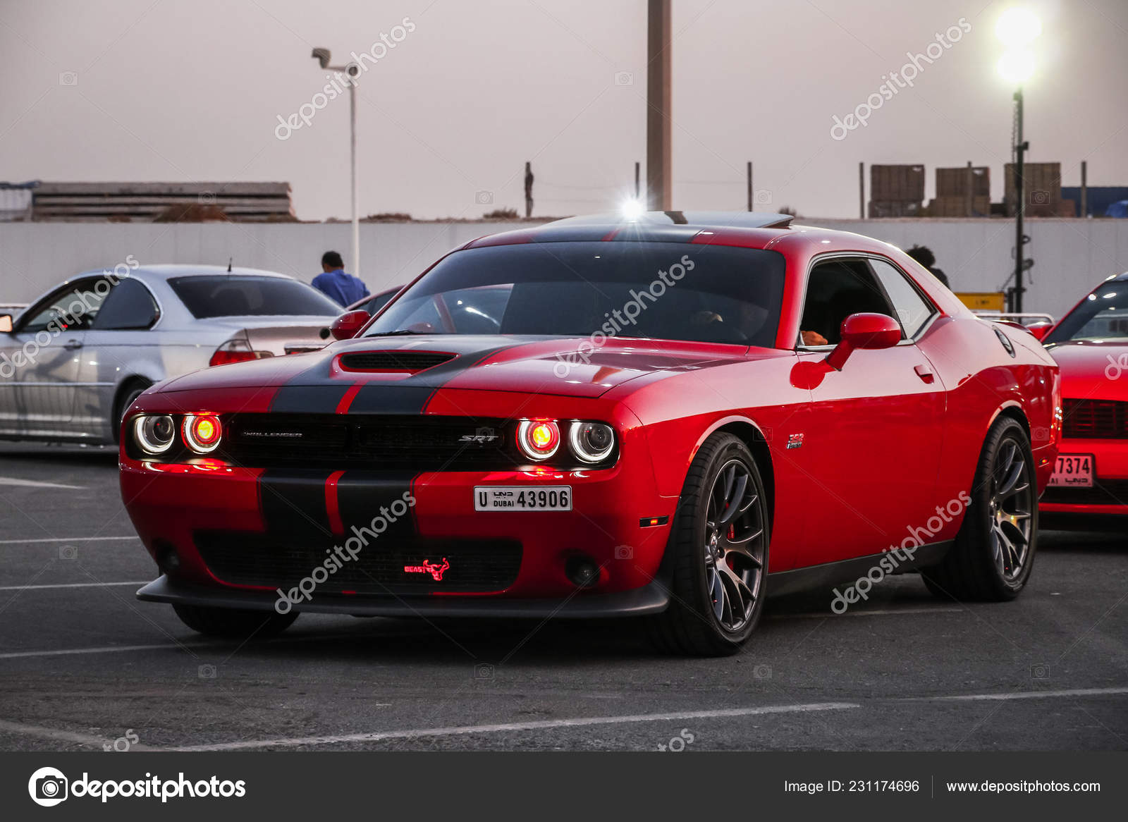 dubai vereinigte arabische emirate november 2018 muscle car dodge