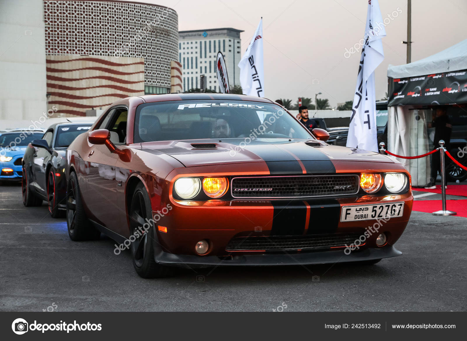 Dubai Uae November 2018 American Muscle Car Dodge Challenger Srt Stock Editorial Photo C Artzzz 242513492