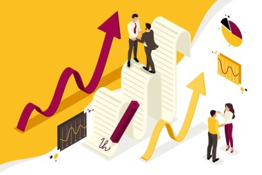 Isometric Business Agreement Partners