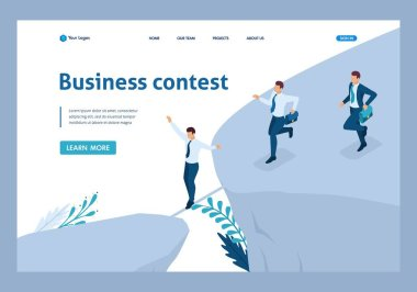 Isometric Participate in Business Competitions