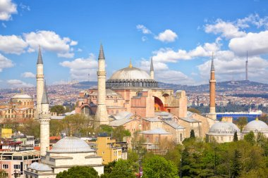 Haghia Sophia church and mosque in Istanbul, Turkey stock vector
