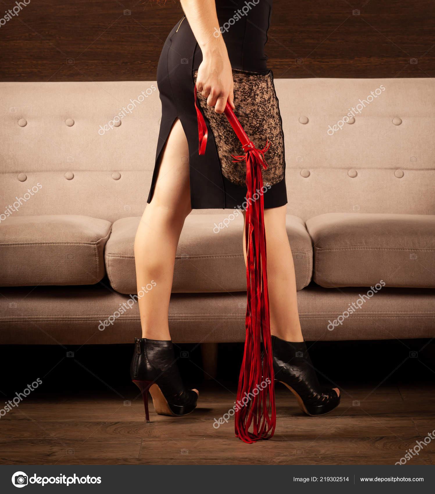 Beautiful Female Legs Black Shoes High