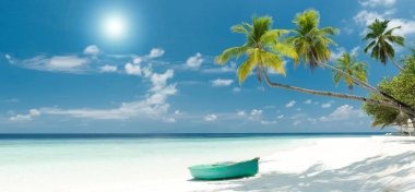 tropical beach scenery on the maldives