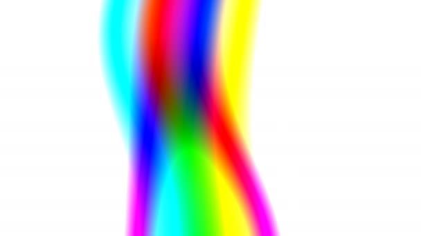 Směšovací vlákna barev duhy pohybující se dolů