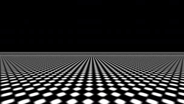 Entfalten Streifen einer 3D-Ebene von invertierten Schachbrett unendlichen Fluchtpunkt