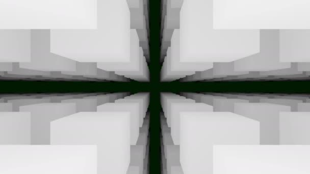 Üres Dark Space of Hovering 3d Fehér kockák
