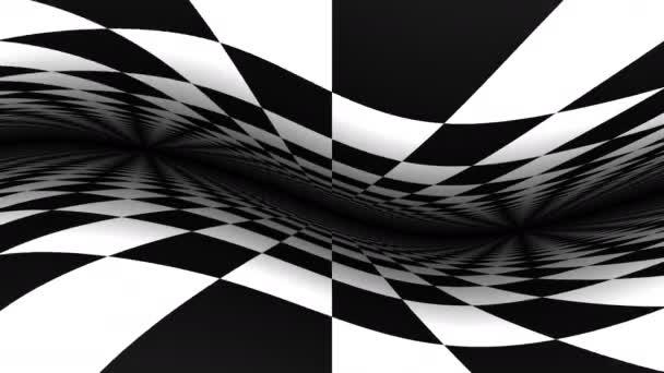 Wackelige Ebenen der Schachbrettmaske