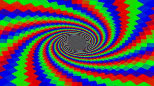 Černobílé spirálové otvory odhalující palety barev Rgb a Cmyk