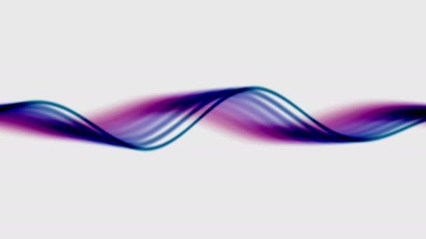 Kék meleg fény szalagok egy fehér háttér Wavey