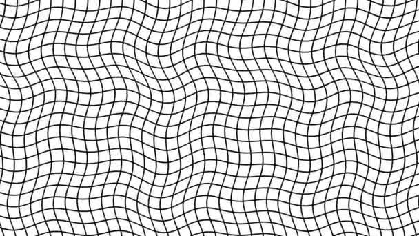 Rázkódó rács hullámos háló vonalak