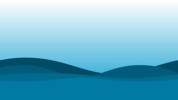 Jednoduché ploché Ui Water Waves Pozadí Ocean Sea Surface