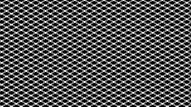 Jednoduchý diagonální vzorek sítě - opakování pohybu