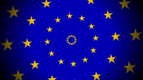 EU European Union Flag Stars Expanding Rings Expansion Europe