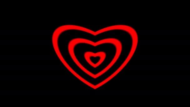 Rozšiřující pulzující pulzující rostoucí láskyplné srdce