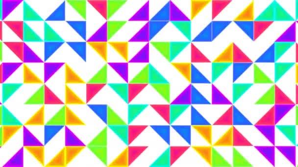 Eltolási háromszögek alkotó tangram háttér mozgó