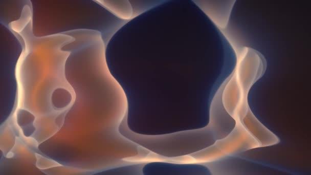 Klumpen seltsamer amorpher Formen in molekularen Mustern