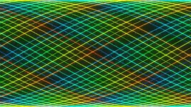 Lichtbänder entwirren sich zu Glasfaserkabelgewindepaaren