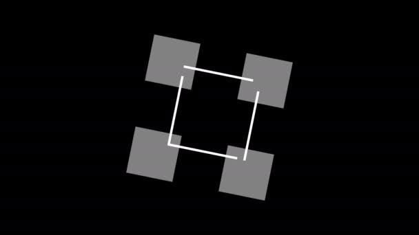Jednoduché čtyři boxy tvořící čtverec s pohyblivými vektory masky