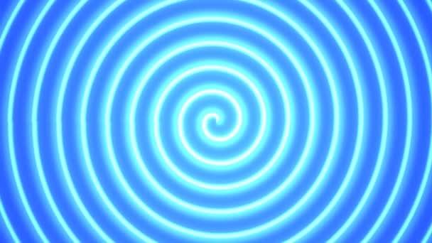 Forgó fényes kék spirál fény Spinner