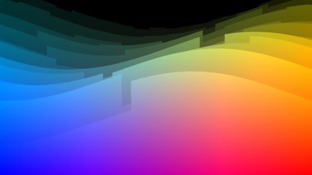Glatte Kurven Ebenen Parallaxe Wirkung gekrümmter Plattformen Landschaften