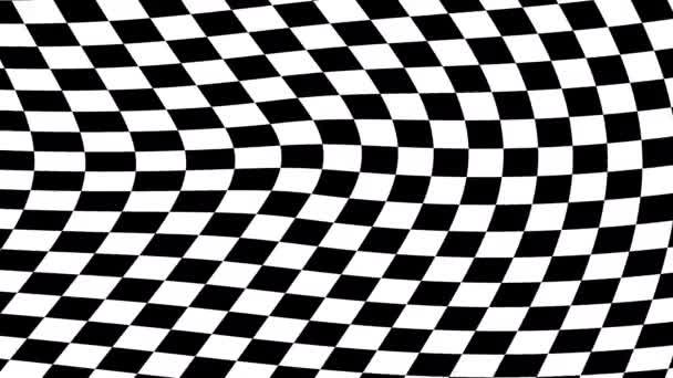 Pergling Schachbrett karierte Flagge Muster fließend