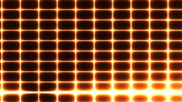 Mřížka černých dlaždic s rotujícím laserovým paprskem plazmy