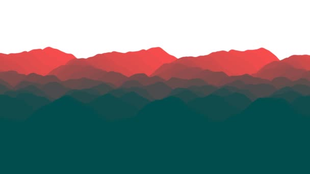 Abstract Parallax Layers of Landscape Mountain Skyscape