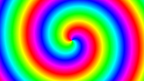 Stuha točícího se duhového spektra spirálně jasných gayů