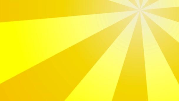 Zářící sluneční paprsky pohybující se kolem rámu obloha slunečné léto