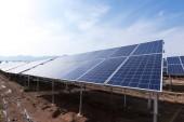 Sonnenkollektoren arbeiten aus nächster Nähe