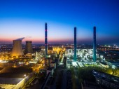 Fotografie Letecký pohled na ropném a plynárenském průmyslu. Ropné rafinérie rostlinné formě