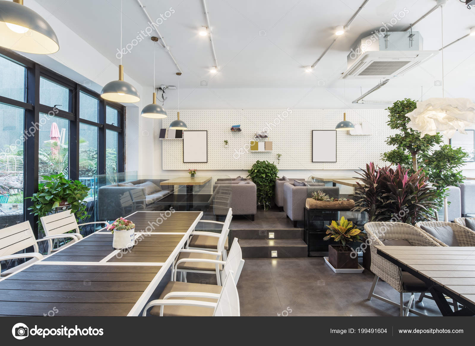 Interior Restaurant Modern Decoration — Stock Photo ...