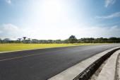empty asphalt road with landscape