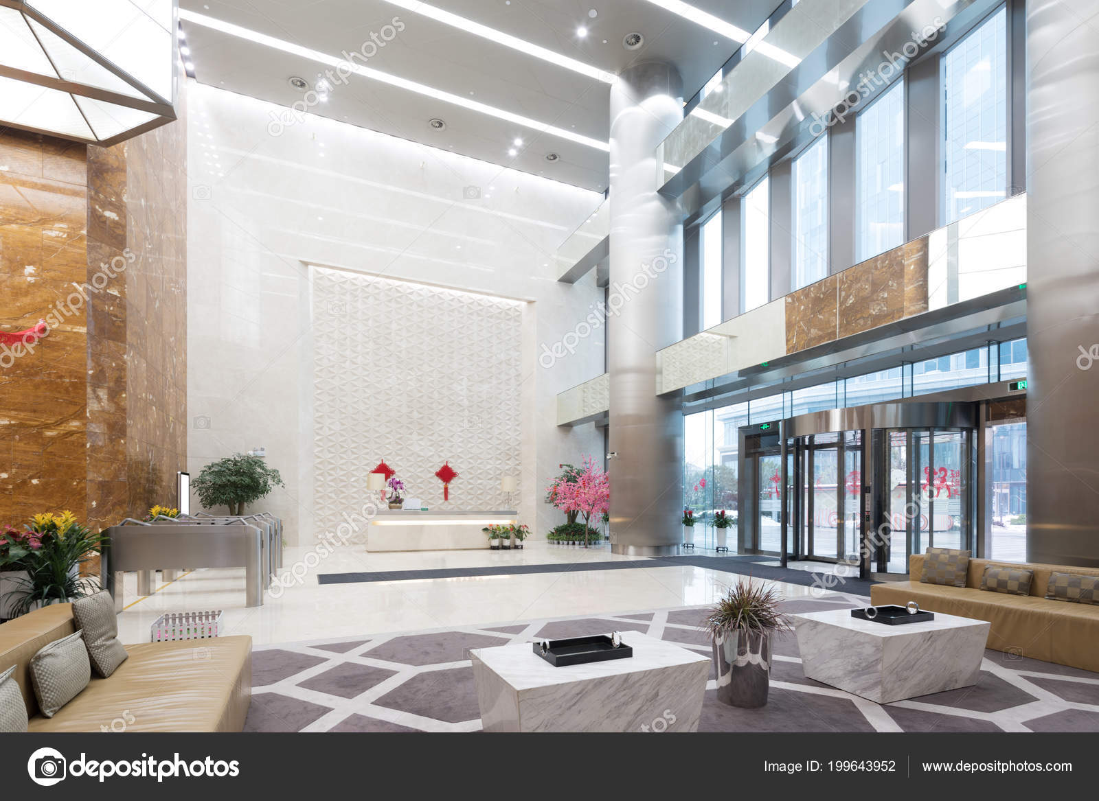 Modern office lobby Marble Interior Modern Office Lobby Stock Photo Depositphotos Interior Modern Office Lobby Stock Photo Zhudifeng 199643952
