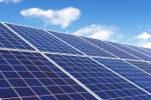 Fényképek Napelemek, napelemes, alternatív villamosenergia-forrás - koncepció a fenntartható erőforrások