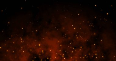 Sparks fly on a black background: 3d illustration stock vector