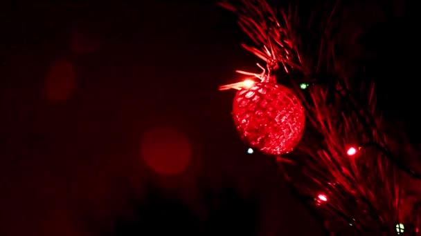 holiday decorations on a Christmas tree as an element of decor