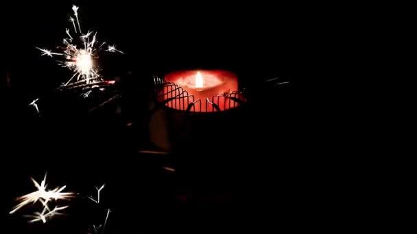 prskavky a plameny svíček vosk jako prvek výzdoby holiday
