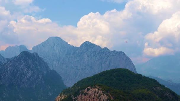 mountain peaks of Tunektepe on the background of sunny sky near the city of Antalya Turkey