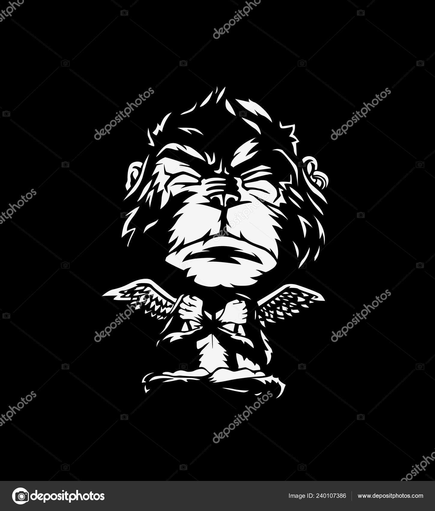 monkey isolated black background meditation monkey yoga pose vector illustration stock vector c redshinestudio 240107386 monkey isolated black background meditation monkey yoga pose vector illustration stock vector c redshinestudio 240107386