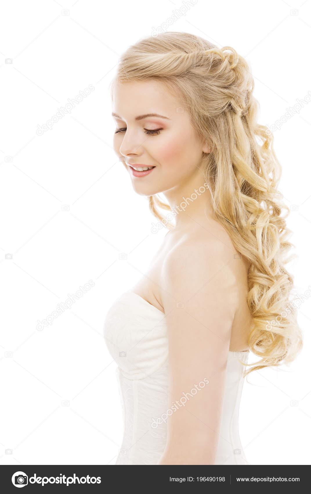 Woman Włosy Twarz Uroda Moda Model Długie Blond Fryzury
