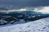 Fotografie Zima se sněhem v Krkonoších, Česká republika