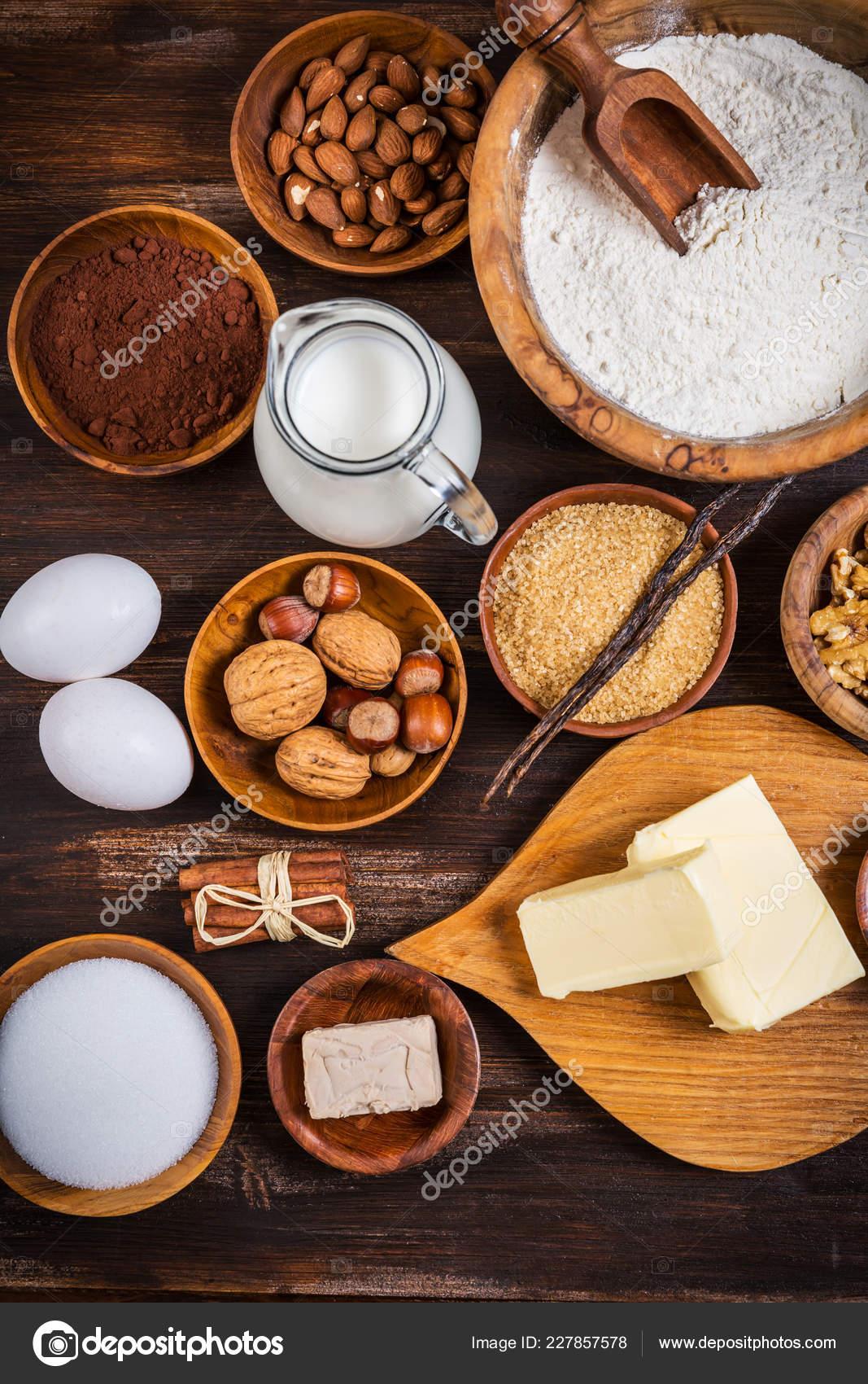 Weihnachtsplätzchen Zutaten.Variation Der Zutaten Für Weihnachtsplätzchen Und Kuchen Backen