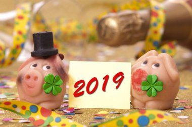 lucky charm with new years date 2019