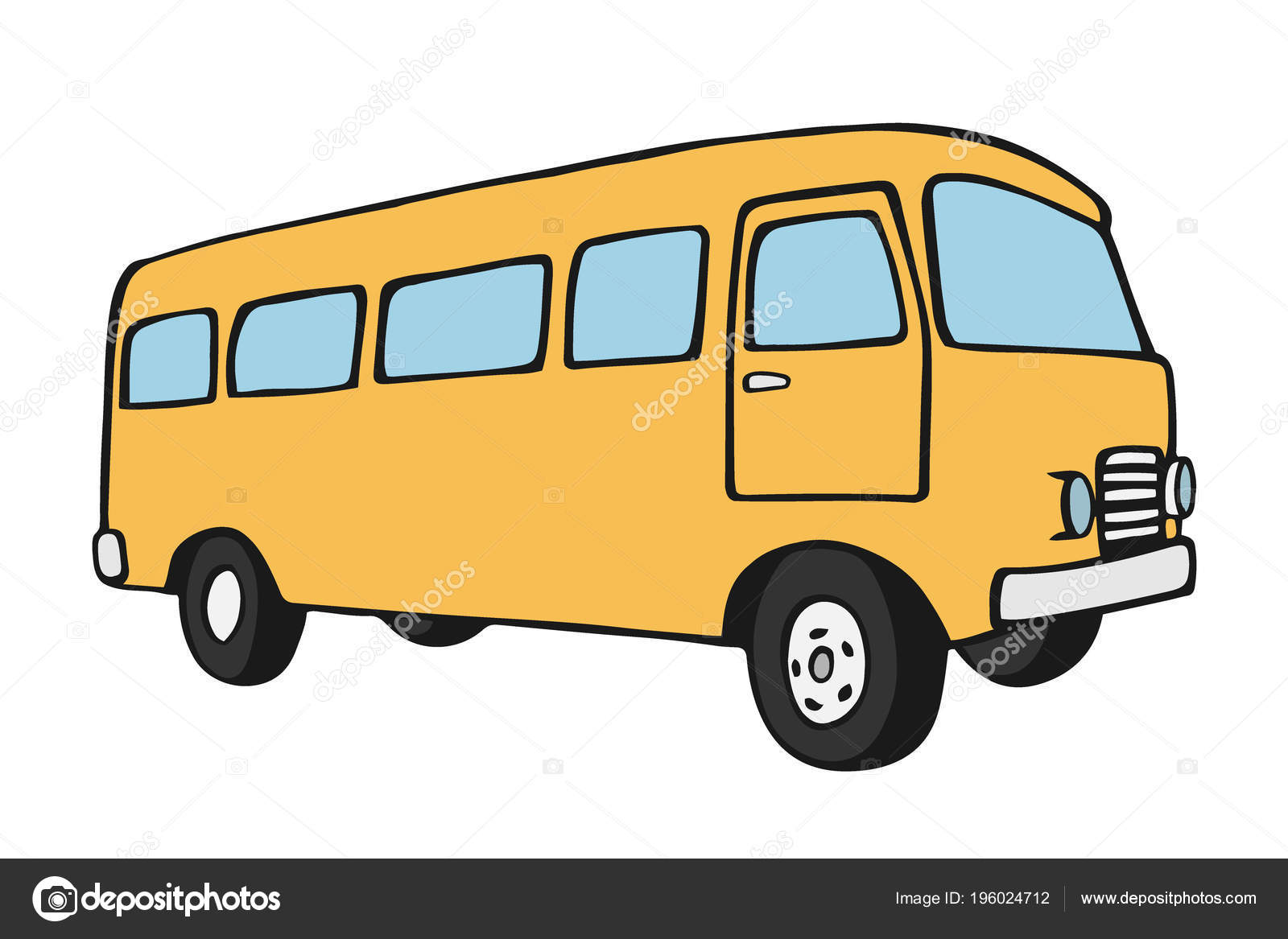 055fe876a1 Surfer van. Vintage travel car. Old classic camper minivan. Retro hippie  bus. Vector illustration in flat design isolated on white background.