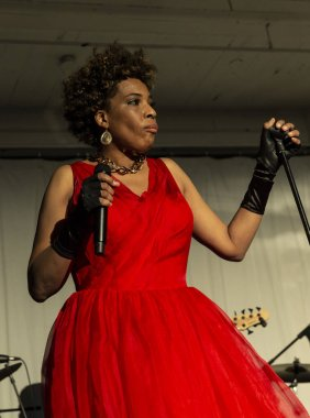 New York, NY - October 13, 2018: Macy Gray performs at Loft Party A Night for the Soul for Jazz Foundation of America at Hudson Studios, Manhattan