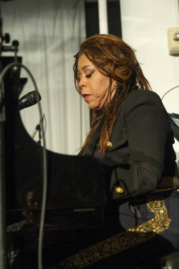 New York, NY - October 13, 2018: Valerie Simpson performs at Loft Party A Night for the Soul for Jazz Foundation of America at Hudson Studios, Manhattan