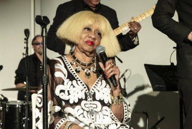 New York, NY - October 13, 2018: Sweet Georgia Brown and The Blues Crusaders perform at Loft Party A Night for the Soul for Jazz Foundation of America at Hudson Studios, Manhattan